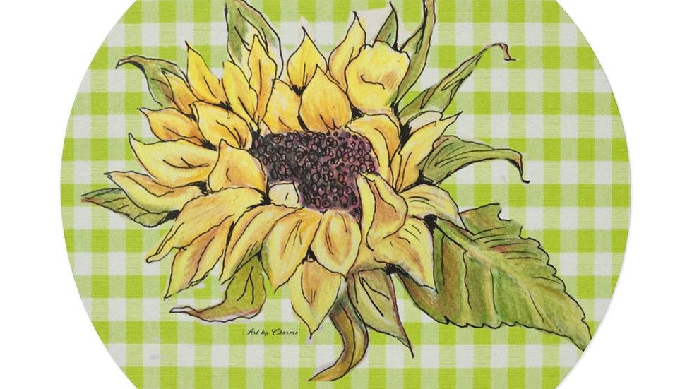 Sunflower Round Vinyl Stickers