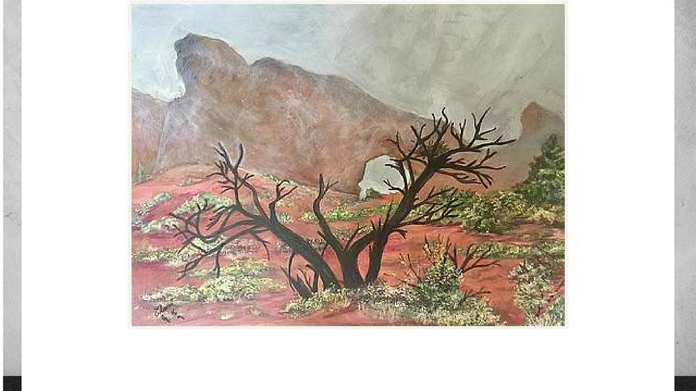 """Desert in the Mist"" - 5""x 7""  White Matted Print"