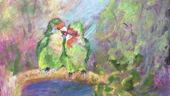 """.Love Birds"" Print"