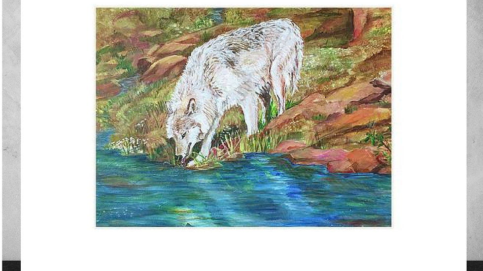 """Quenching the Thirst ""5""x7""  White Matted Print"