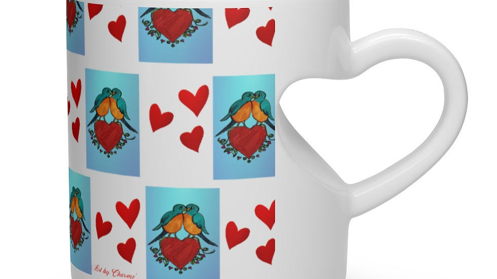 Love Bird Heart Shape Mug