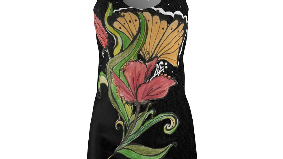 Stylized Poppy Women's Cut & Sew Racerback Dress