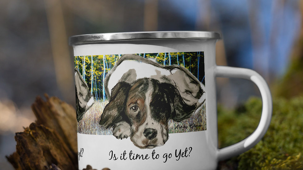 Is it time to go yet? Enamel Mug
