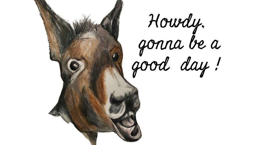 Howdy Donkey  Bubble-free stickers