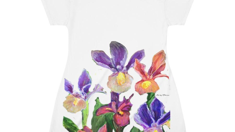 Iris All Over Print T-Shirt Dress