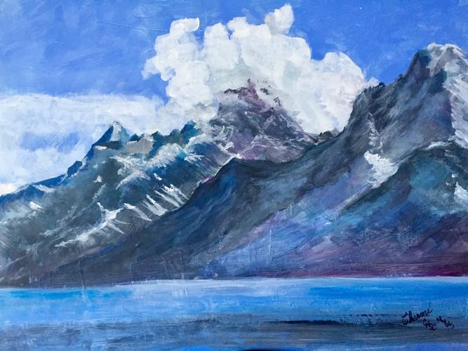 Grand Tetons and Lake