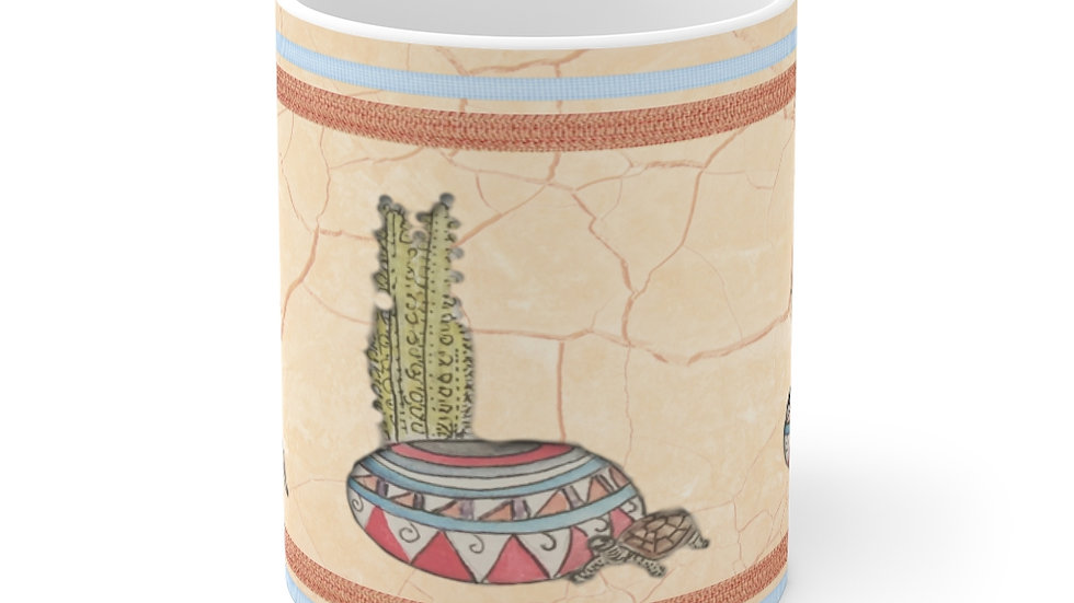 Desert Cactus and Tortoise Mug 11oz