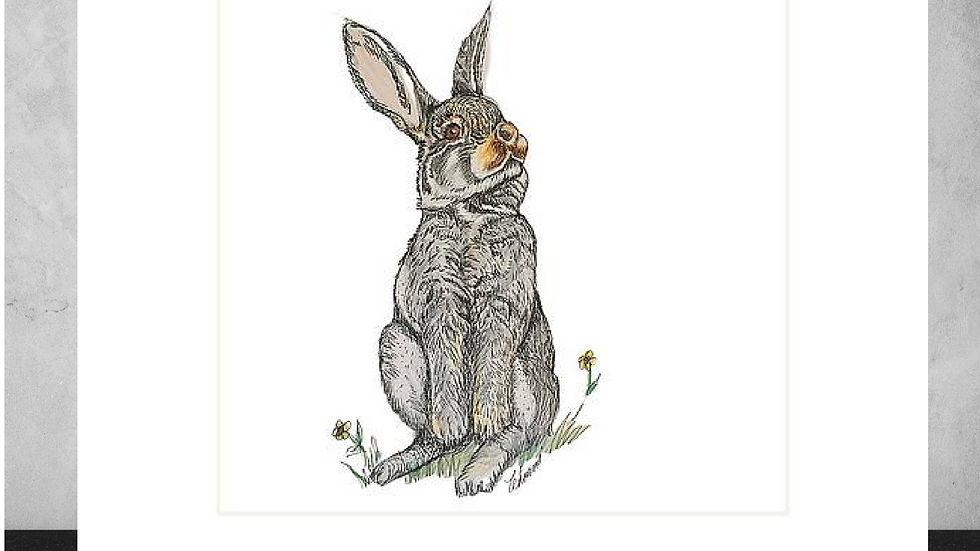 "Some Bunny 5""x7"" White Matted Print"