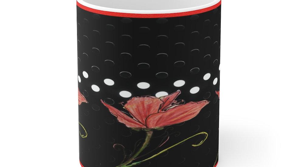 Stylized Poppy   Mug 11oz