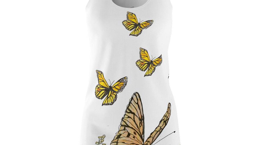 Monarch;  Butterflys Women's Cut & Sew Racerback Dress
