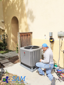 New Rheem HVAC system installation