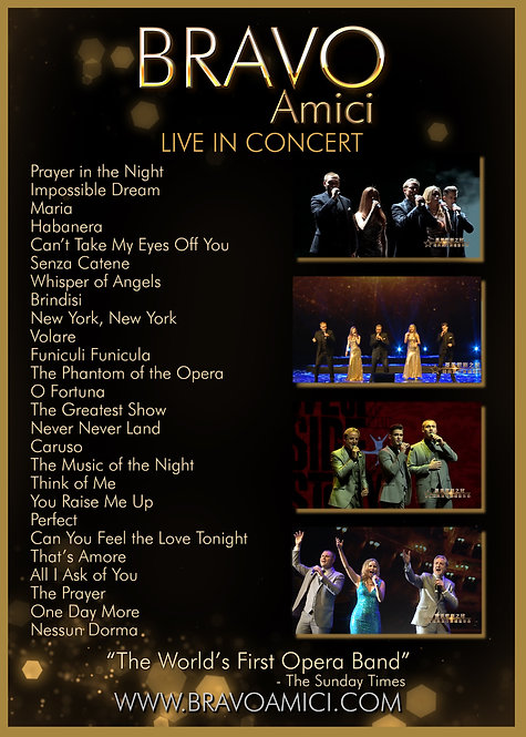 BRAVO Amici DVD (download) - Live From Changchun, China
