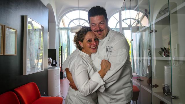 Chef Filippo Saporito e Ombretta Giovannini