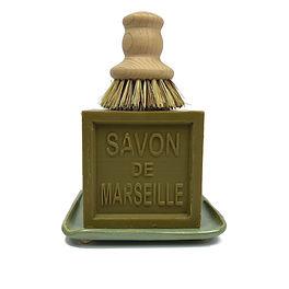 Savon Dish Wash Set Olive Green.jpg