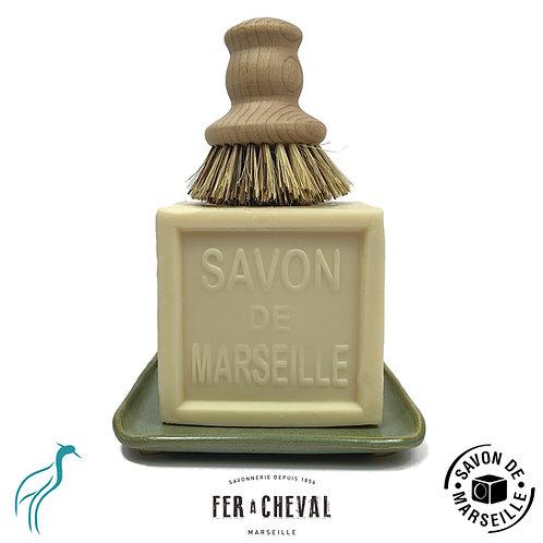 Savon de Marseille Eco-Friendly Dishwashing Set Natural/Green