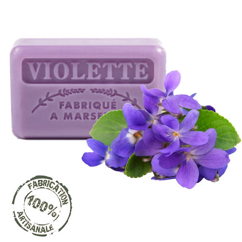Frenchsoaps Violet Soap Front View