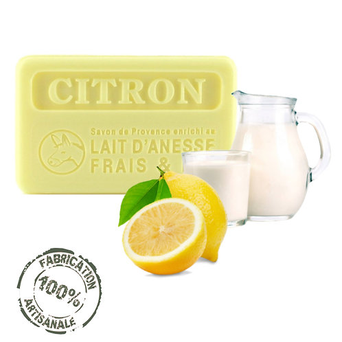 Frenchsoaps Lemon Donkey Milk Soap Front View