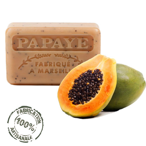 Frenchsoaps Papaya Exfoliating French Soap Front View
