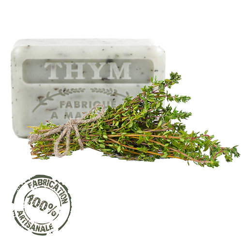 Frenchsoaps Thyme Exfoliating Soap Front View