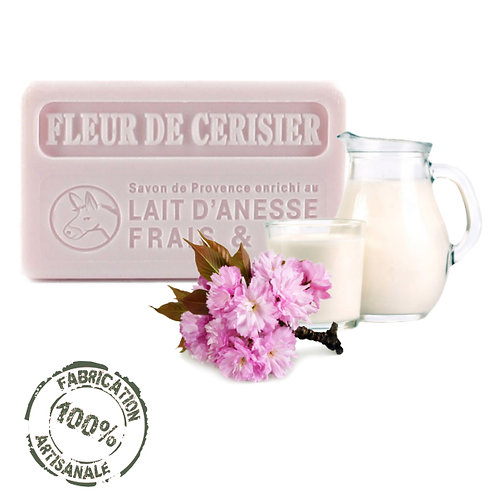 Frenchsoaps Cherry Blossom Oil Donkey Milk Soap Front View