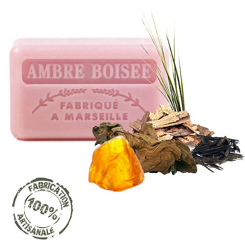 Frenchsoaps Woody Amber Soap Front View