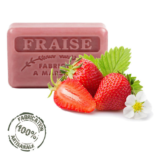 Frenchsoaps Strawberry Soap Front View