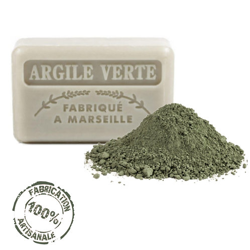 Frenchsoaps Green Clay Soap Front View