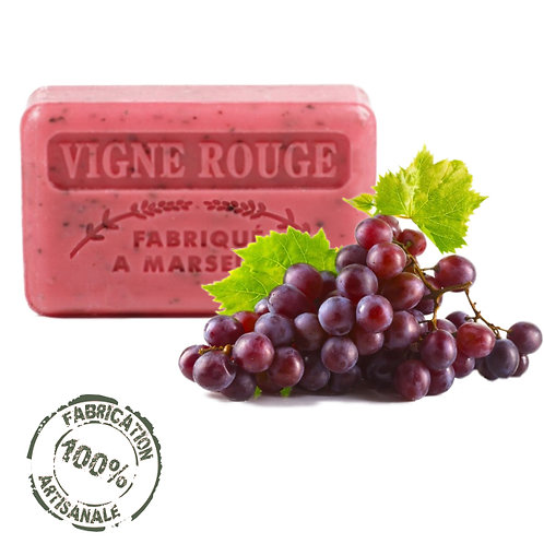 Frenchsoaps Red Vine Exfoliating Soap Front View