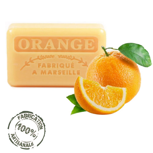 Frenchsoaps Orange Soap Front View