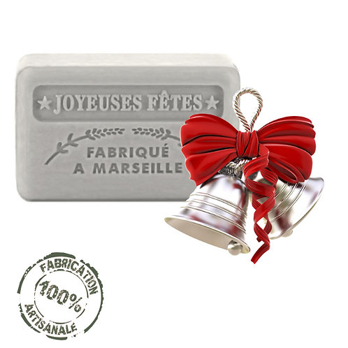 French Soaps Christmas Silver Front View