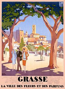 vintage grasse poster