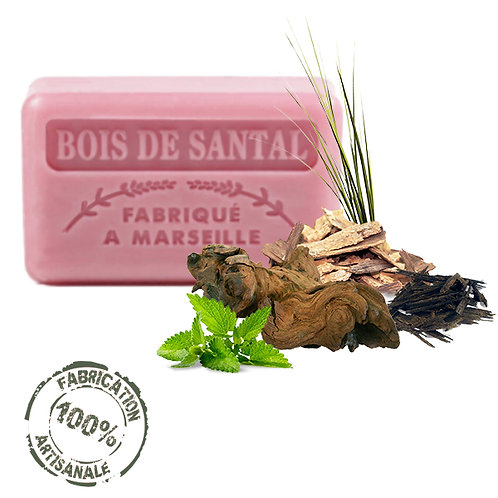 Frenchsoaps Sandalwood Soap Front View