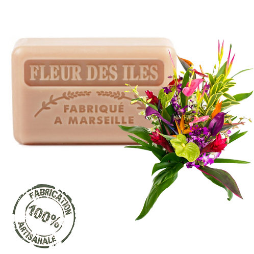 Frenchsoaps Island Flowers Soap Front View