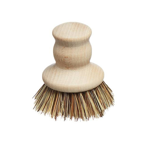 French Soaps Wooden Pot Brush Front View