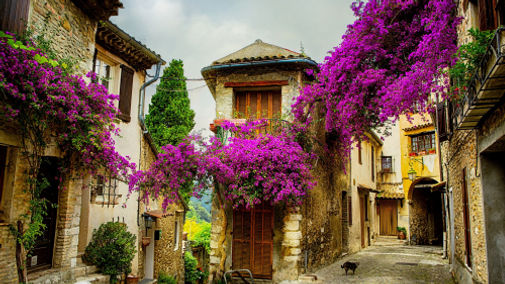 Beautiful Village in Provence France
