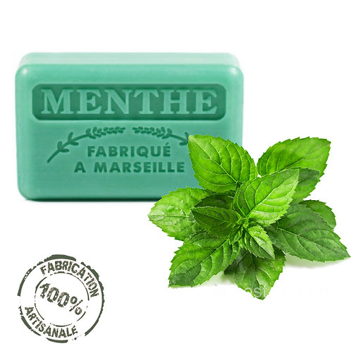 Frenchsoaps Mint Soap Front View