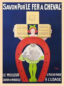Savon de Marseille vintage advert