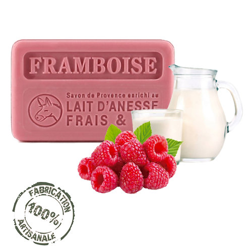 Frenchsoaps Raspberry Donkey Milk Soap Front View