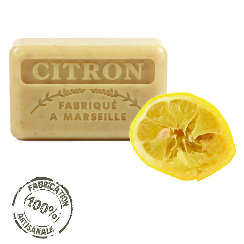 Frenchsoaps Crushed Lemon Exfoliating Soap Front View