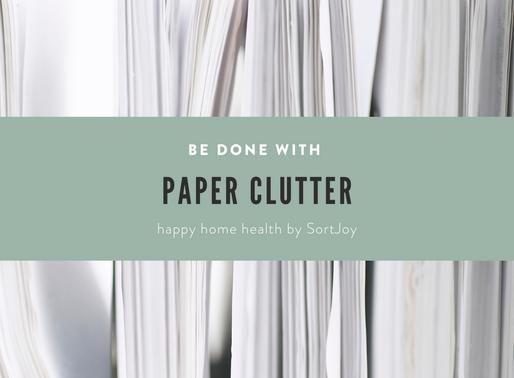 Managing Paper Clutter