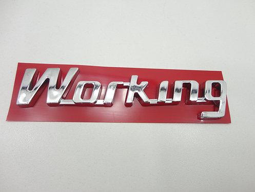 Emblema Working Cromado