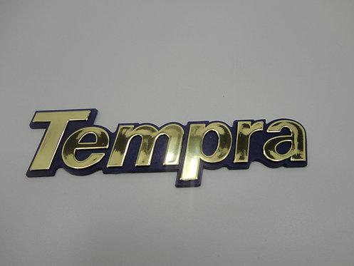 Emblema Tempra ( Azul/ Dourado)
