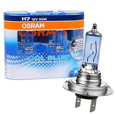 Par Lâmpada Super Branca Osram Cool Blue Intense H7 4200k 55