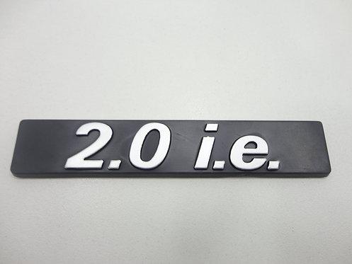 Emblema 2.0 I.e ( Preto/ Cromado ) Tempra