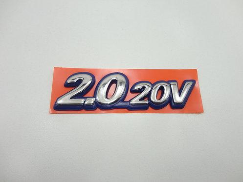 Emblema 2.0 20v Azul/Cromado Marea