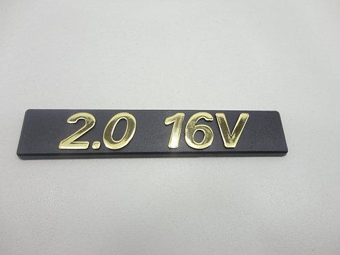 Emblema 2.0 16v ( Preto/ Dourado ) Tempra