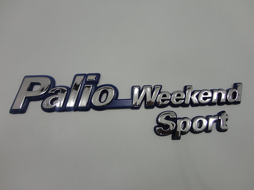Emblema Palio Weekend Sport ( Azul/cromado)