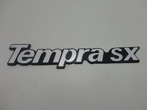 Emblema Tempra Sx ( Preto/ Cinza)