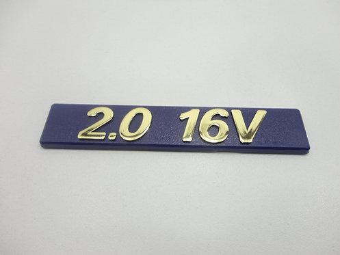 Emblema 2.0 16v ( Azul/ Dourado ) Tempra