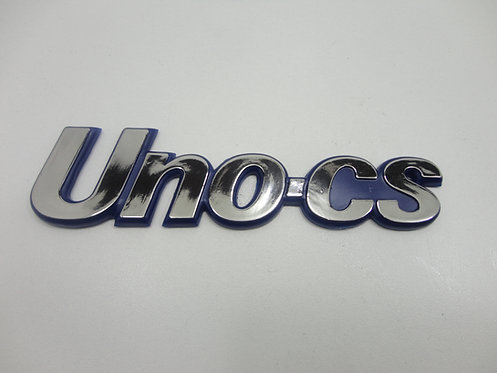 Emblema Uno Cs ( Azul/ Cromado) Uno Cs